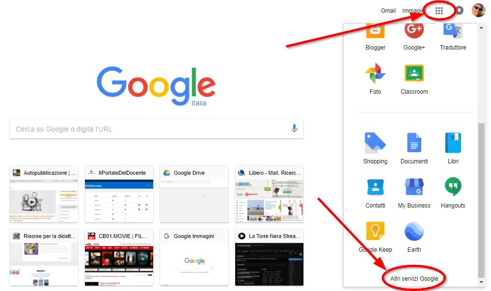 Creare un dito con Google Sites